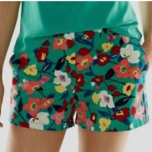 Elle Floral Print Shorts Multicolored Size 12